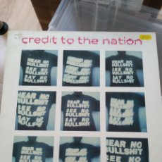 Discos de vinilo: CREDIT TO THE NATION – HEAR NO BULLSHIT SEE NO BULLSHIT SAY NO BULLSHIT (ONE LITTLE INDIAN, 1993). Lote 168770136