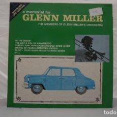 Discos de vinilo: VINILO LP - A MEMORIAL FOR GLENN MILLER THE MEMBERS OF GLENN MILLER´S ORCHESTRA. Lote 168779340
