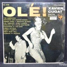 Discos de vinilo: XAVIER CUGAR AND HIS ORCHESTRA - OLÉ! - LP. Lote 168782536