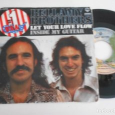 Discos de vinilo: BELLAMY BROTHERS-SINGLE LET YOUR LOVE FLOW. Lote 168785412