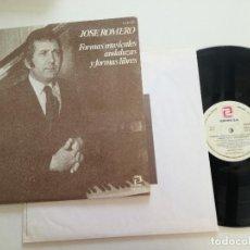 Discos de vinilo: JOSE ROMERO - FORMAS MUSICALES ANDALUZAS Y FORMAS LIBRES - LP ZAFIRO 1979 // PIANO FLAMENCO. Lote 168791360