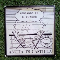 Discos de vinilo: ANCHA ES CASTILLA - PENSANDO EN EL FUTURO + BORRACHOS AL VOLANTE, OIHUKA, 1988. EUSKAL HERRIA.. Lote 168797357
