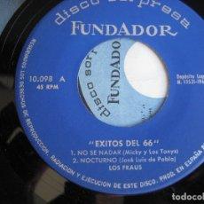 Discos de vinilo: LOS FRAUS EP FUNDADOR 1966 - VERSIONES DE BRINCOS - MICKY TONYS - POP BEAT 60'S . Lote 168799416