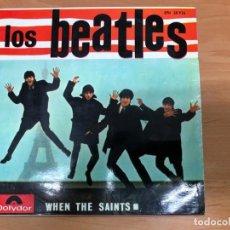 Discos de vinilo: EP LOS BEATLES CON TONY SHERIDAN WHEN THE SAINTS POLYDOR EPH 50926 BUEN ESTADO VER FOTOS. Lote 168808496