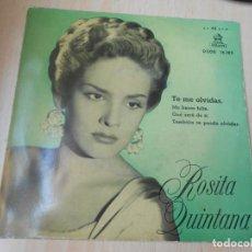 Discos de vinilo: ROSITA QUINTANA, EP, TE ME OLVIDAS + 3, AÑO 1958. Lote 168809028