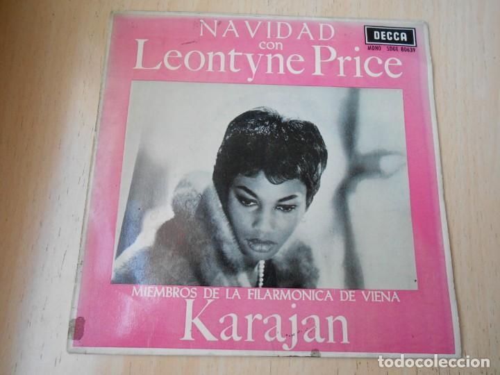 LEONTYNE PRICE CON VON KARAJAN, EP, NOCHE SILENCIOSA + 3, AÑO 1963 (Música - Discos de Vinilo - EPs - Funk, Soul y Black Music)