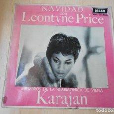 Discos de vinilo: LEONTYNE PRICE CON VON KARAJAN, EP, NOCHE SILENCIOSA + 3, AÑO 1963. Lote 168812564