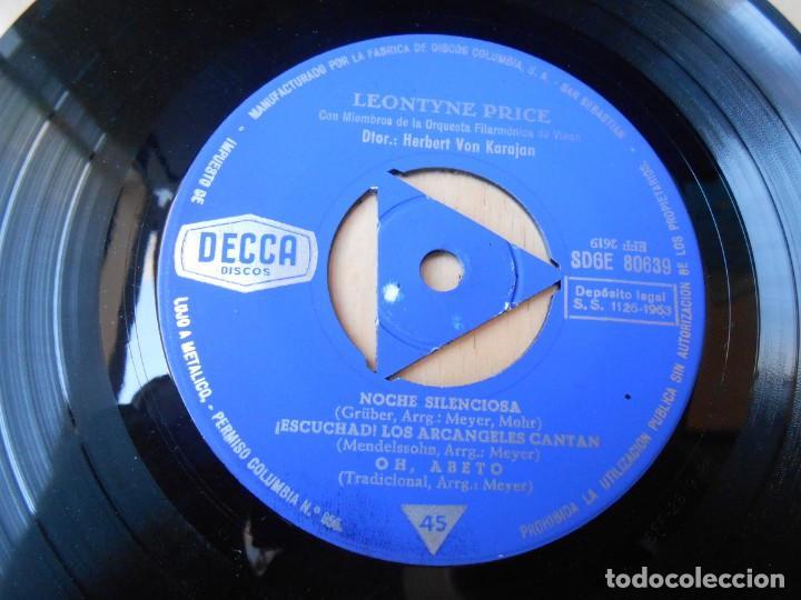 Discos de vinilo: LEONTYNE PRICE con VON KARAJAN, EP, NOCHE SILENCIOSA + 3, AÑO 1963 - Foto 3 - 168812564