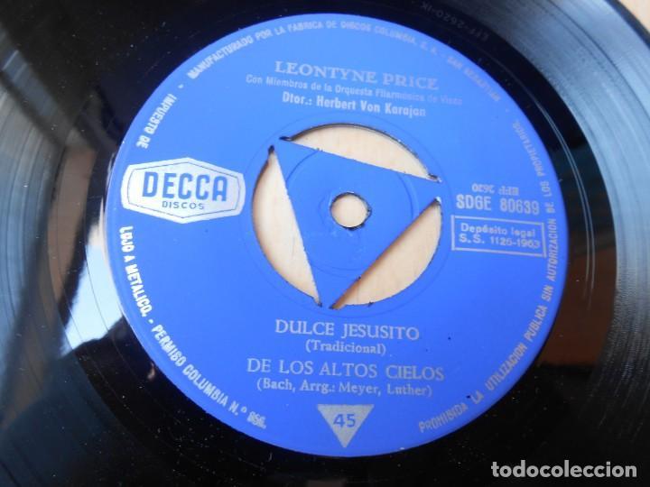Discos de vinilo: LEONTYNE PRICE con VON KARAJAN, EP, NOCHE SILENCIOSA + 3, AÑO 1963 - Foto 4 - 168812564