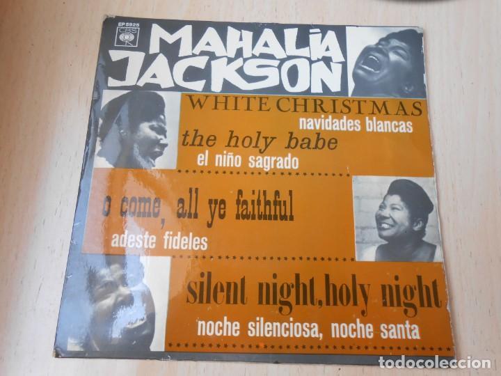 MAHALIA JACKSON CON LA ORQUESTA DE SID BASS, EP, NAVIDADES BLANCAS + 3, AÑO 1966 (Música - Discos de Vinilo - EPs - Funk, Soul y Black Music)