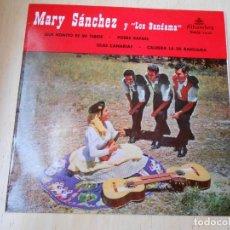 Discos de vinilo: MARY SÁNCHEZ Y LOS BANDAMA, EP, QUE BONITO ES MI TEROR + 3, AÑO 1959. Lote 168813656