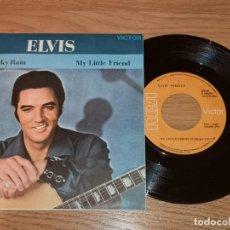 Discos de vinilo: ELVIS PRESLEY 7 SINGLE,SPAIN PRESS 1970 * RARE* ROCKABILLY-GENE VINCENT(COMPRA MINIMA 15 EUR). Lote 168817132