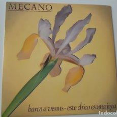 Discos de vinilo: MECANO- BARCO A VENUS - SINGLE PROMO 1983 - COMO NUEVO.. Lote 168828208