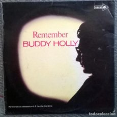 Discos de vinilo: BUDDY HOLLY. REMEMBER. CORAL, UK 1971 LP (CPS 71). Lote 168838876