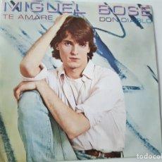 Discos de vinilo: MIGUEL BOSE- TE AMARE - SINGLE PROMOCIONAL 1980- VINILO COMO NUEVO.. Lote 168844796