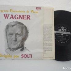 Discos de vinilo: VINILO LP - ORQUESTA FILARMÓNICA DE VIENA WAGNER DIRIGIDA POR SOLTI/ DECCA. Lote 168846648