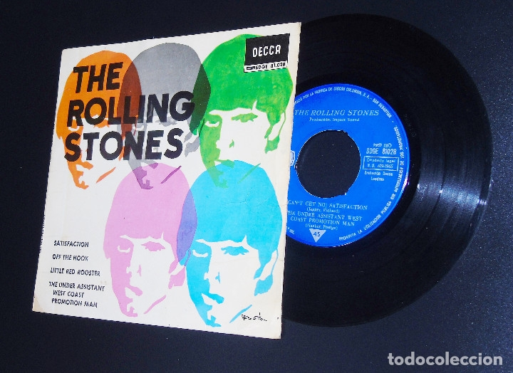 Discos de vinilo: THE ROLLING STONES --SATISFACTION & OFF THE HOOK & LITTLE RED ROOSTER -- AÑO 1965 - Foto 7 - 161014666