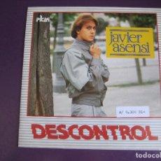 Discos de vinilo: JAVIER ASENSI –SG PICAP 1984 DESCONTROL +1 ITALODISCO DISCO ELECTRONICA - SIN ESTRENAR. Lote 168868696