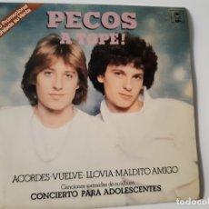Discos de vinilo: PECOS- A TOPE! - EP PROMOCIONAL 1979- 4 TEMAS - VINILO COMO NUEVO.. Lote 168887656