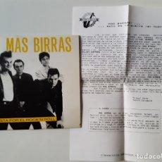 Discos de vinilo: MAS BIRRAS- APUESTA POR EL ROCK,N ROLL- SINGLE 1987 + HOJAS PROMO RADIO- VINILO COMO NUEVO.. Lote 168892540