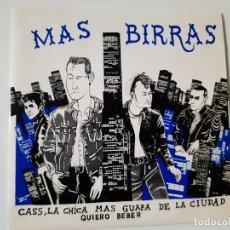 Discos de vinilo: MAS BIRRAS- CASS, LA CHICA MAS GUAPA DE LA CIUDAD - SINGLE 1988 + HOJA PROMO RADIO- COMO NUEVO.. Lote 168893076