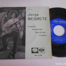 Discos de vinilo: JORGE NEGRETE-EP LA BURRITA +3. Lote 168904140
