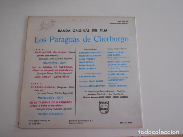 Discos de vinilo: LOS PARAGUAS DE CHERBURGO-EP BSO DEL FILM - Foto 2 - 168909832