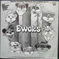 Discos de vinilo: EWOKS Y DROIDS - BANDA SONORA ORIGINAL SERIE TELEVISION - STAR WARS - LA GUERRA DE LAS GALAXIAS. Lote 168915556