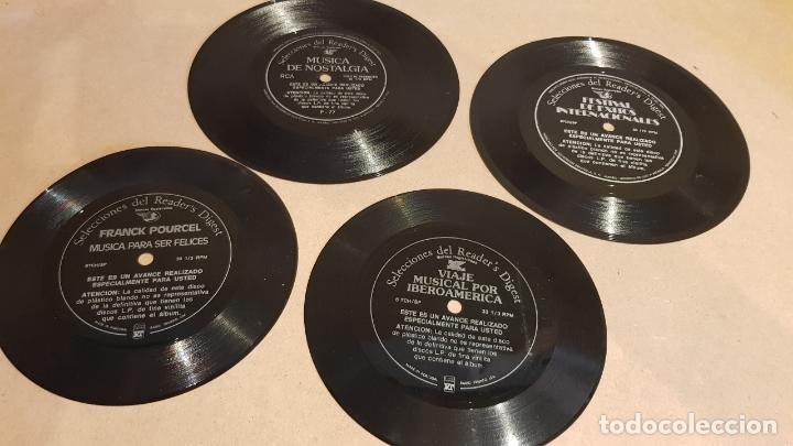 4 FLEXIDISC / SELECCIONES READER'S DIGEST / 2 DE 6 Y 2 DE 7 PULGADAS / OCASIÓN. (Música - Discos - Singles Vinilo - Otros estilos)