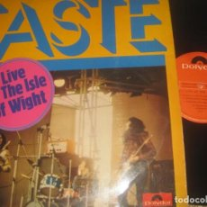 Discos de vinilo: TASTE - LIVE AT THE ISLE OF WIGHT - (POLYDOR -1972) OG ESPAÑA EXCELENTE CONDICION. Lote 168923964