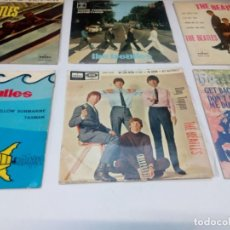 Discos de vinilo: LOTE 6 EP THE BEATLES:DAY TRIPPER, THE BEATLES HITS, GET BACK, I WAT TO HOLD YOUR HAND,COME TOGETHER. Lote 168926308