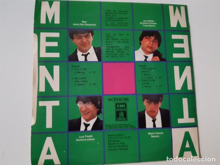 Discos de vinilo: MENTA- YA LO VES (EDICIÓN LIMITADA)- EP 1980- VINILO COMO NUEVO. - Foto 2 - 168928976