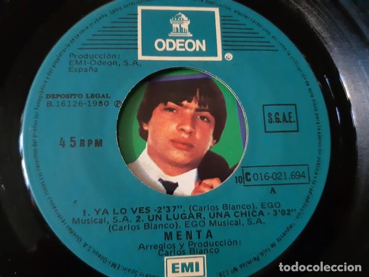 Discos de vinilo: MENTA- YA LO VES (EDICIÓN LIMITADA)- EP 1980- VINILO COMO NUEVO. - Foto 3 - 168928976