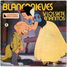Discos de vinilo: WALT DISNEY - BLANCANIEVES Y LOS SIETE ENANITOS - EP CUENTO-DISCO BRUGUERA 1967. Lote 168932620