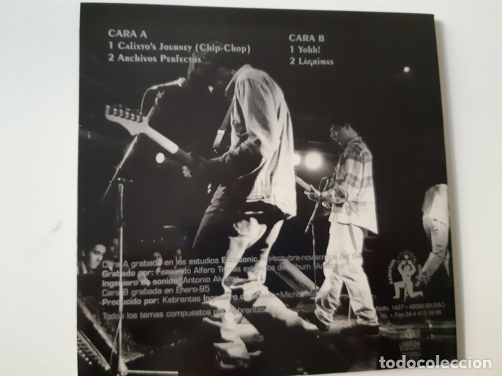 Discos de vinilo: KEBRANTAS- CALIXTOS JOURNEY - EP 1995 - COMO NUEVO. - Foto 3 - 168937608