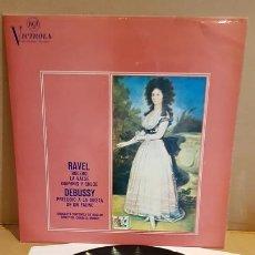Discos de vinilo: ORQUESTA SINFONICA DE BOSTON / RAVEL-DEBUSSY / LP - RCA-VICTROLA-1967 / MBC. ***/***. Lote 168964936