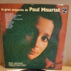 Discos de vinilo: PAUL MAURIAT / SUS MEJORES TEMAS SABOR LATINO / LP PROMO - PHILIPS-1980 / CALIDAD LUJO. ****/****. Lote 168965220