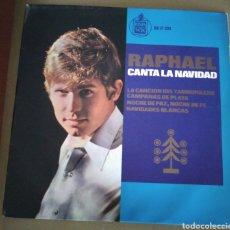 Discos de vinil: RAPHAEL. CANTA A LA NAVIDAD - EL TAMBORILERO + 3. Lote 168972482