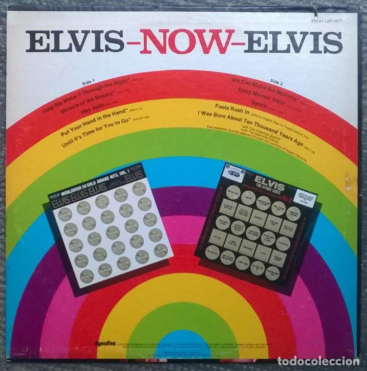 Discos de vinilo: Elvis Presley. Now. RCA-Victor, USA 1972 LP (LSP-4671) - Foto 2 - 168990208