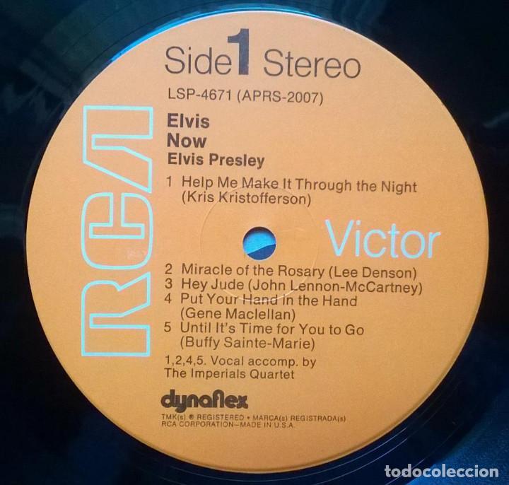 Discos de vinilo: Elvis Presley. Now. RCA-Victor, USA 1972 LP (LSP-4671) - Foto 3 - 168990208