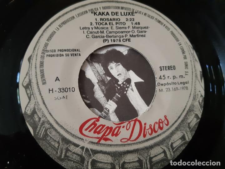 Discos de vinilo: KAKA DE LUXE- ROSARIO - EP PROMO 1978 - COMO NUEVO. - Foto 3 - 168993636