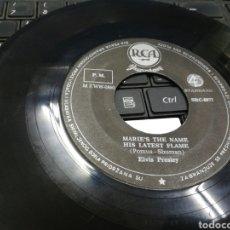 Discos de vinilo: ELVIS PRESLEY SINGLE MARIE'S THE NAME HIS LATEST FLAME YUGOSLAVIA SOLO VINILO ESCUCHADO. Lote 169002460