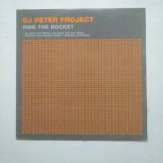 Discos de vinilo: DJ. PETER PROJECT. RIDE THE ROCKET. MAXI-SINGLE. TDKDA58. Lote 169004860