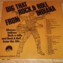 Discos de vinilo: ROCK'N'ROLL FROM INDIANA LP RARE 50S OBSCURE ROCKABILLY-TOMMY LAN-JIM ALLEY-ELVIS PRESLEY. Lote 169006560