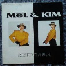Discos de vinilo: LP VINILO MÚSICA MEL & KIM RESPECTABLE SUPREME RECORDS AÑO 1987. Lote 169010668