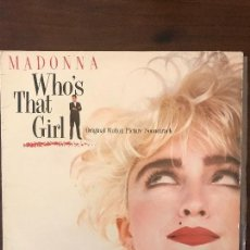 Discos de vinilo: MADONNA – WHO'S THAT GIRL (ORIGINAL MOTION PICTURE SOUNDTRACK) SELLO: SIRE – 925611-1. Lote 169013554