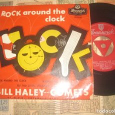 Discos de vinilo: BILL HALEY AND THE COMETS ROCK AROUND THE CLOCK (BRUNSWICK-1956) OG ENGLAND. Lote 169015056