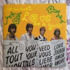Discos de vinilo: SINGLE BEATLES ALL YOU NEED IS LOVE. Lote 169042958