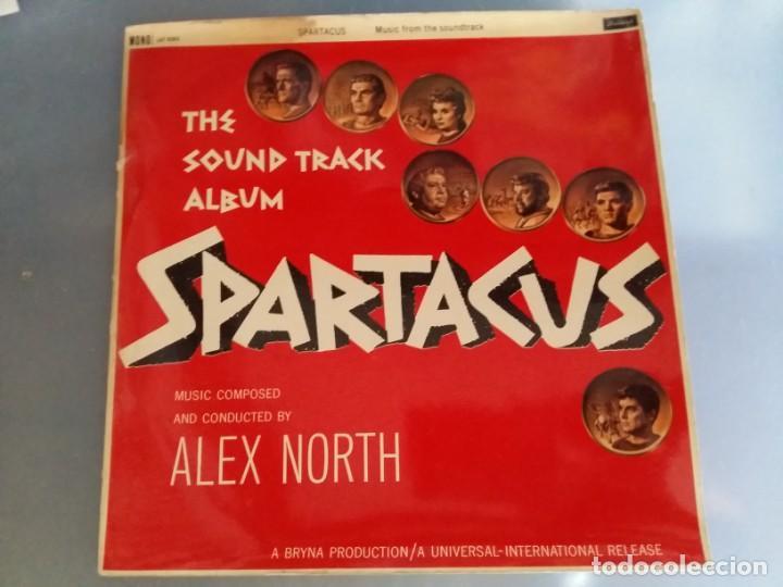 BSO ESPARTACO SPARTACUS ALEX NORTH STANLEY KUBRICK KIRK DOUGLAS TONY CURTIS EDICION INGLESA DE 1960 (Música - Discos - Singles Vinilo - Bandas Sonoras y Actores)