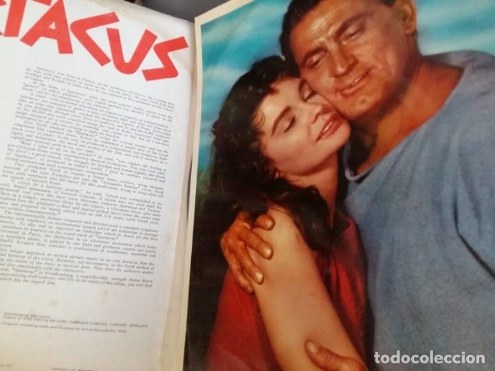 Discos de vinilo: BSO ESPARTACO SPARTACUS Alex North Stanley Kubrick Kirk Douglas Tony Curtis EDICION INGLESA DE 1960 - Foto 2 - 169064412